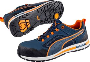 Afbeelding van PUMA Crosstwist Low 64.310.0 S3 HRO SRC bleu - orange 45