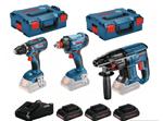 Afbeeldingen van PROMO BOSCH TOOL KIT 18V 3 MACHINES(GSR 18 V-28/GBH 18 V-20/GDX 18 V-180) + 3 ACCUS 4AH + L-BOXX