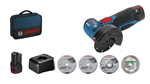 Afbeeldingen van Bosch meuleuse angulaire sans fil GWS 12-76 Pro 12V + 1accu + 1 chargeur + 4 disques + sac