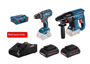 Image sur PROMO BOSCH TOOL KIT 18V 2 MACHINES (GSR 18V-28 + GBH 18V-21) + 2 ACCUS 4AH PROCORE + L-BOXX
