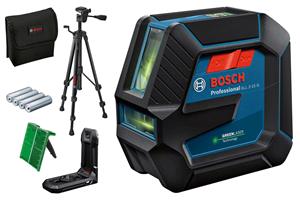 Image sur PROMO BOSCH Laser ligne GLL 2-15 VERT, support RM 10, trépied BT 150, pochette de protection, piles