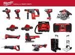 Afbeeldingen van PROMO MILWAUKEE SUPERPACK 11 MACHINES + 6 ACCUS 18V5AH + 2 CHARGEUR + 1 TROLLEY