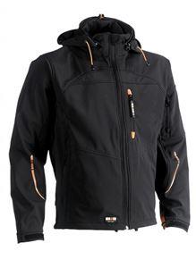 Image sur Liquidation herock veste poseidon softshell orange l