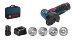 Image de Bosch meuleuse angulaire sans fil GWS 12-76 Pro 12V + 1accu + 1 chargeur + 4 disques + sac