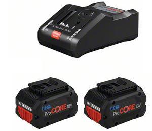 Afbeelding van BOSCH Batterie Starterset ProCORE18V (2x ProCORE18V 5,5Ah, chargeur GAL 1880 CV)