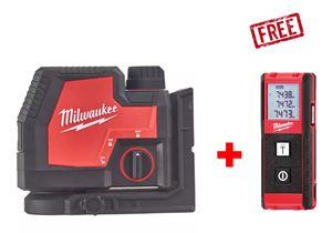 Image sur PROMO MILWAUKEE LASER A 2 LIGNES VERTE REDLITHIUM USB L4CLL-301C + (TELEMETRE LDM30 CADEAUX)