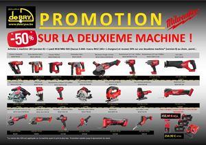 Afbeelding van PROMO Milwaukee Achetez 2 machines et recevez une remise de 50%  sur la machine la moins chère.