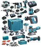 Afbeeldingen van PROMO MAKITA  COMBO PACK LXT 18V 10  MACHINES DLX1102TJ1 + CHARIOT
