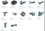 Afbeeldingen van PROMO MAKITA PACK DLX1036TJ1 MACHINE 18V 10 MACHINES + 2 CHARGEURS + 5 ACCUS