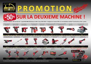 Afbeelding van Promo Milwaukee 1 machine 0X + 1 M18NRG-503 + 1 machine 0X (la moins chers) à -50%